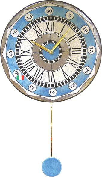 ザッカレラ振り子掛時計(クオーツ)(陶器:イタリア製) ZC135-004[送料無料]:オルゴールと時計の杜のうた