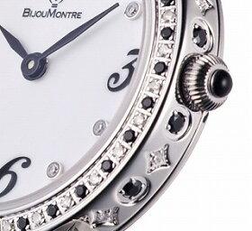 ビジュモントレ女性用ダイアモンド腕時計(BijouMontre)クォーツスイス製51010TM[送料無料]