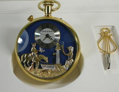 世界最小のオルゴールを組み込んだ スイス時計の伝統を継承する逸品。リュージュ懐中時計 オ...