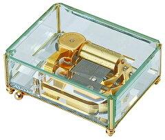 [送料無料・共鳴箱半額]ムーブメントの動きが楽しめる斬新な透明ケース30弁オルフェウス サンキ...