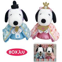 ひな人形 、スヌーピー&ベル ぬいぐるみ雛人形、キャラクター雛【ky】