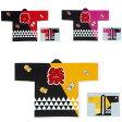 【お祭り・法被・はんてん】 大人顔料プリント イベント袢天 ウロコ柄 赤・黄色・ピンク D6339・D6352・D6353