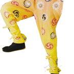 【お祭り用品】【手古舞衣装】たっつけ風袴 黄 獅子毛/三つ巴 5号・7号・S-L B7728【お祭用品/祭用品/お祭り】