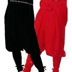 【お祭り用品】【手古舞衣装】たっつけ袴 無地 黒・赤小-大【お祭用品/祭用品/お祭り】B8710・8711