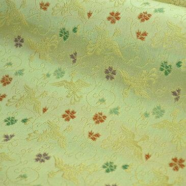 西陣織金襴「小花鳳凰」10cmからの切り売り 京都西陣織 金襴・生地・ 和柄・和小物・人形衣装・和雑貨・ バッグ・よさこい・祭衣装・インテリア・ランチョンマット・アパレル等に!