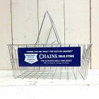 CULTUREMART(カルチャーマート)ワイヤーバスケットCHAINSアメリカ雑貨/アメ雑貨/ガレージ/収納/洗濯カゴ/買物カゴ