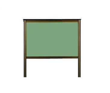 自立型屋外掲示板(ブロンズ色・円支柱タイプ)H900mm×W1200mm:森誠光堂黒板製作所webshop