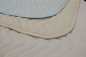【夏に最適】京都西川吸汗・速乾繊維Lyndaリンダ敷きパッドひんやり冷たい肌ざわり接触冷感繊維リンダ使用シングルサイズ