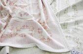 シルク毛布京都西川毛羽部分シルク100%シングルサイズ日本製ブランケット肌に優しい毛布ピンク/グリーン