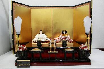 アート&デザイン後藤由香子作 寿鶴 創作雛人形平飾り 【雛人形親王飾り】