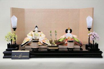 アート&デザイン後藤由香子作 華 創作雛人形平飾り 【雛人形親王飾り】
