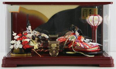 63歓喜雛小三五金彩友禅親王パノラマケース飾り【雛人形ケース飾り】【smtb-k】【w3】