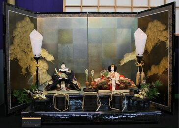アート&デザイン後藤由香子作 松づくし 創作雛人形平飾り 【雛人形親王飾り】