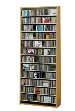 CD,DVDの収納棚 CD/DVDストッカー CS924 CD約924枚収納 (CDラック DVDラック) ダークブラウン,ナチュラル,ホワイト
