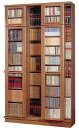 スライド書棚 (スライド本棚) 文楽 高さ237cm幅135cm 扉付 HBL-135NT 本州各都府県