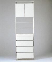 【送料無料】薄型サニタリーラック : オープンスペース3段タイプ 幅75cm 高さ237~248.2cm WS7524 (代引手数料無料)