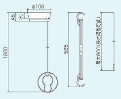 洗濯用品室内物干しルームハンガーくるリングMRH-1C(2個入)モリテックスチール
