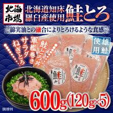 北海道羅臼産鮭使用鮭とろ120g×5P