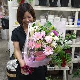 スマイルロングブーケ♪笑顔が溢れる花束です。【誕生日・お祝い】【ご出演・発表会】【ご退職・歓送迎会】【あす楽】【送料無料】【#元気いただきますプロジェクト】