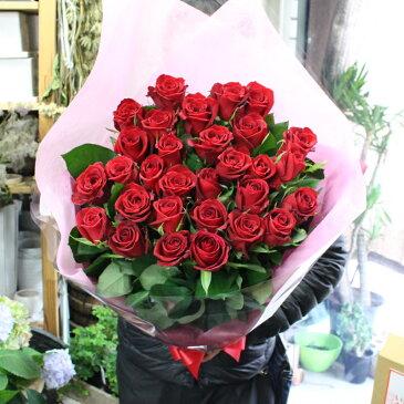 MORIYAROSES♪赤いバラ、ピンクバラ、黄色バラ、オレンジバラから色を選べる30本のバラの花束【スタンダード】季節ごとに品質の良い産地を特選し、選び抜いたバラたちをセンスよく束ねました。