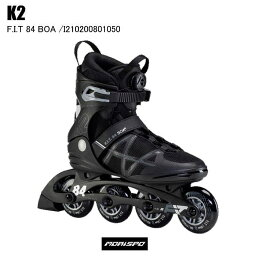 K2 ケイツー F.I.T. 84 BOA フィット80ボア I210200801050 ブラック/シルバー インラインスケート 大人 メンズ