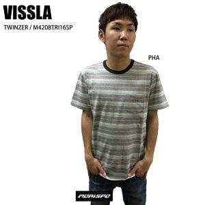 [ネコポス対応]VISSLA ヴィスラ TWINZER トゥウィンザー M9039TWI16SU   カジュアル S Sシャツ