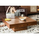 テーブル【送料無料】ローテーブルセンターテーブル木製テーブルlacca正方形木目木製ウォールナットオークナチュラルシンプルインテリア家具北欧モダンアルモニア
