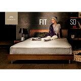 ローベッド ベッド セミダブル ベッドフレーム すのこ Fit bed セミダブルサイズ ロータイプ ベット 脚付き 天然木 ナチュラル シンプル デザイナーズ インテリア 家具 北欧 モダン アルモニア 新生活