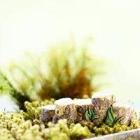 並んだ切り株 横6.5cm 建物 街の風景 ミニチュア ジオラマ 動物模型 苔テラリウム おもちゃ フィギュア