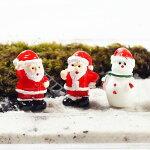 サンタクロース雪だるまクリスマスミニチュアジオラマ動物模型苔テラリウムおもちゃフィギュア