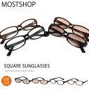 送料無料 スクエア型サングラス サングラス メンズ 伊達メガネ 眼鏡 メガネ 伊達めがね 黒ぶち眼鏡 おしゃれ メンズファッション 通販 新作 人気 MOSTSHOP ネコポス