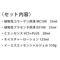 ツインエレナイザープレミアムのお手入れに!デラックスセット(モイスチャーローション125ml、MC10033ml、EX10033ml、Cエッセンス20ml、イーエスエッセンシャルジェル310g)