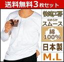 送料無料3枚セット 快適工房 長袖釦付Tシャツ Mサイズ Lサイズ 日本製 グンゼ GUNZE 通販 メンズ 長袖 インナー グンゼ 肌着 紳士肌着 シャツ 肌着