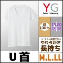 YG ワイジー COTTON 綿100% UネックTシャツ Mサイズ Lサイズ LLサイズ グンゼ GUNZE |インナーウエア インナーウェア アンダーウェア アンダーウエア 大きいサイズ メンズインナー メンズ 紳士 肌着 男性下着 ティーシャツ