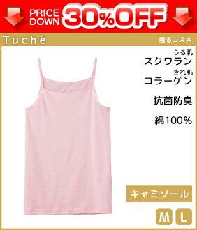 30%OFF Tuche tushie穿的化妝品INTIMATE女短上衣M尺寸L尺寸棉100%日本製造郡是GUNZE瑕疵郵購