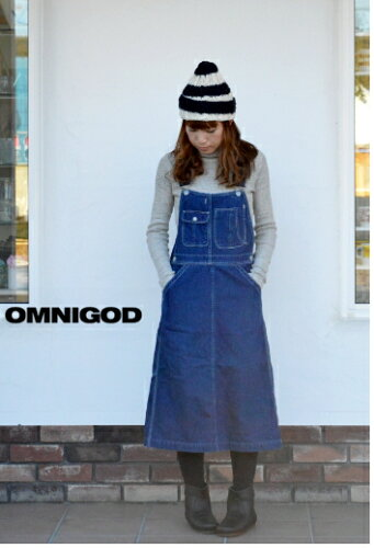 OMNIGOD(オムニゴッド)10OZデニム オーバーオールスカート 57-113D...