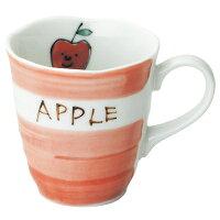 こどものための陶器「プチフルーツ・りんごマグ」【楽ギフ_包装】【楽ギフ_のし】【楽ギフ_のし宛書】