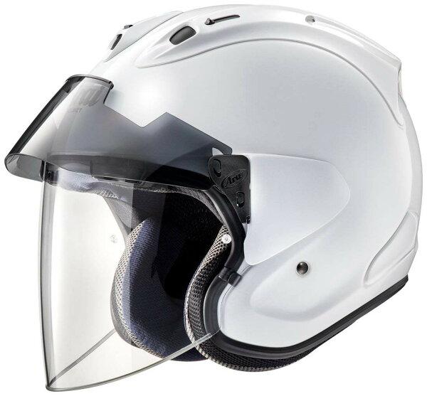 ARAIアライジェットヘルメットVZ-RAMPLUS(ブイゼットラムプラス)グラスホワイトLサイズ59-60cm