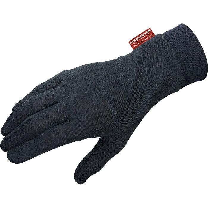 コミネ (Komine) バイク用 グローブ Gloves GK-133 コンフォートシルクインナーグローブ ブラック 黒 Mサイズ 06-133/BK/M