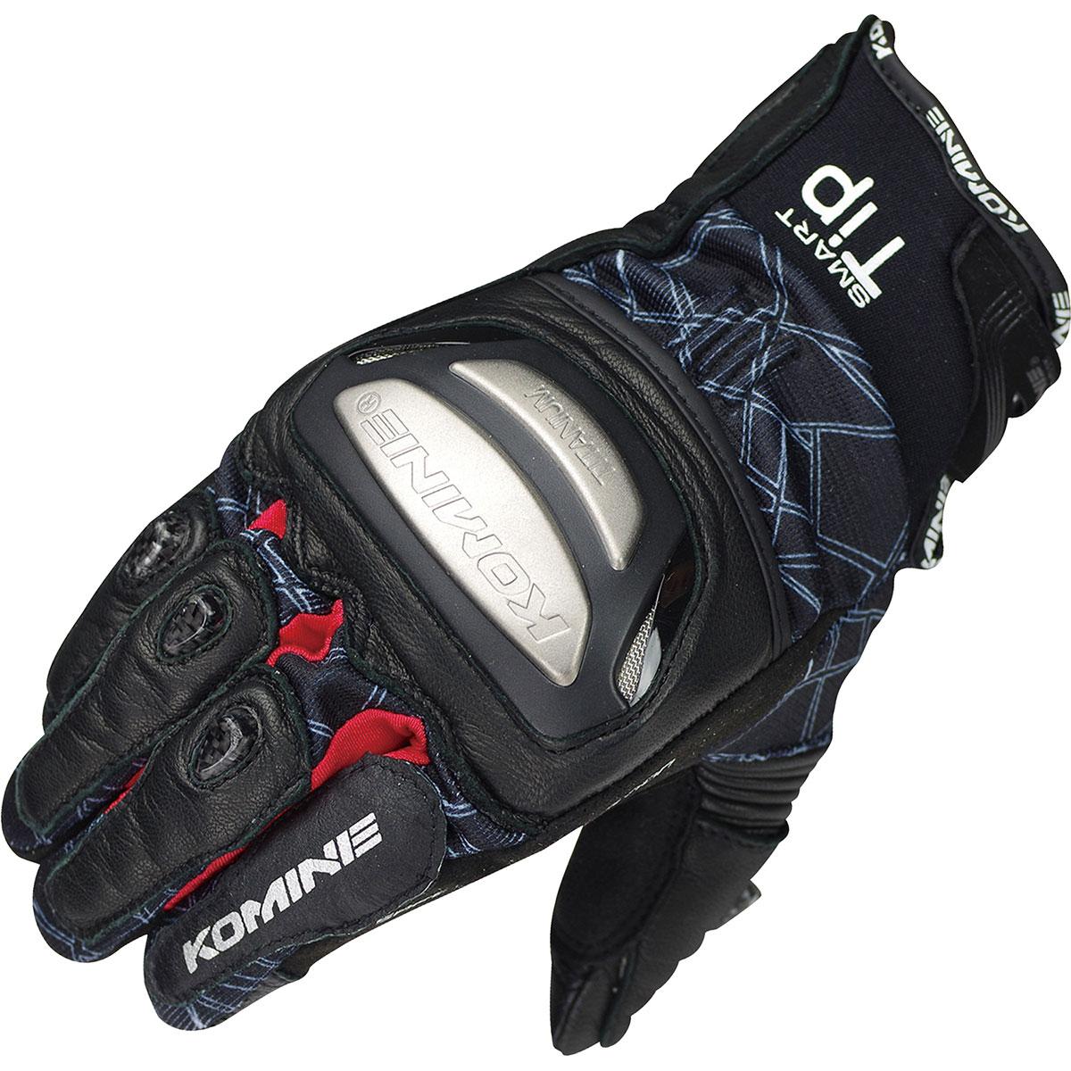バイクウェア・プロテクター, グローブ  (Komine) Gloves GK-214 L 06-214BKRDL