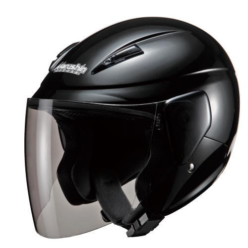 マルシン(Marushin)バイクヘルメットセミジェットM-520ブラックメタリックフリーサイズ(57~60cm)