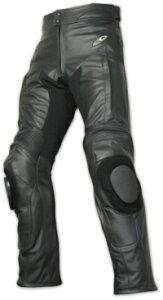 ROUGH&ROAD (ラフ&ロード) バイク用 レザーパンツ KSツーリングレザーパンツ ルーズフィット ブラック MWサイズ (30-36,股下82cm) RA5006LFBK2