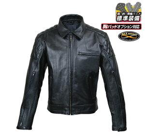 ROUGH&ROAD (ラフ&ロード) バイク用 レザージャケット ベンテッドシングルレザージャケット ブラック Lサイズ RA5032BK3