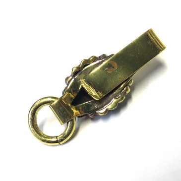 真鍮クリップキーホルダー/サングラスホルダー(インディアン)BSKH-01