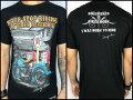 【MSF】≪FRANKYMOUSE≫プリントTシャツ『NEVERSTOPRIDING』フラットヘッドバイクフランキーマウス