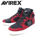 AVIREX U.S.A.(アビレックス) DICTATOR ディクティター バイカーシューズ  REDxBLACK(AV2278)レッドxブラック
