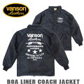VANSONボアライナーコーチジャケットバンソンナイロンジャケット(880V325)