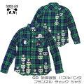 パンディエスタSB熊猫謹製パズルパンダフランネルチェックシャツグリーン(530210)PANDIESTAJAPANパンダ
