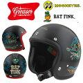 """土日祝も営業!GREASER""""RATFINK2019""""グリーサージェットヘルメットラットフィンク2カラー・2サイズ"""