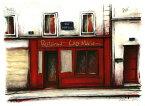 【作家名】中野克彦 【作品名】通りの赤いレストラン